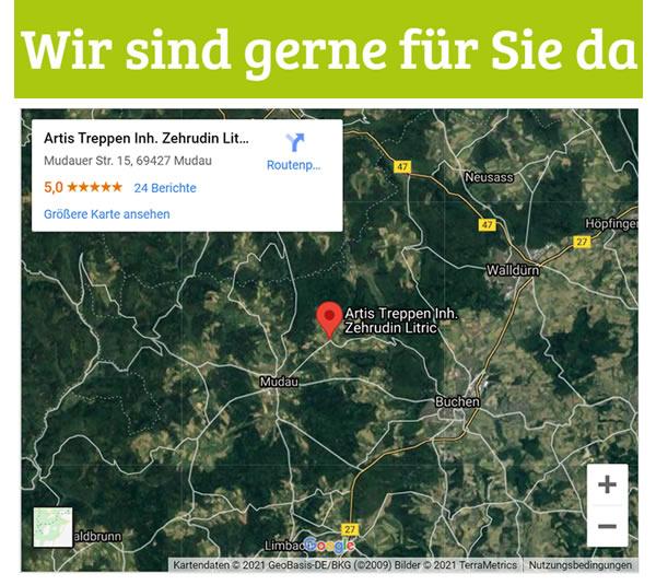 Holztreppen in  Schneeberg, Amorbach, Weilbach, Kirchzell, Miltenberg, Bürgstadt, Eichenbühl und Kleinheubach, Rüdenau, Großheubach